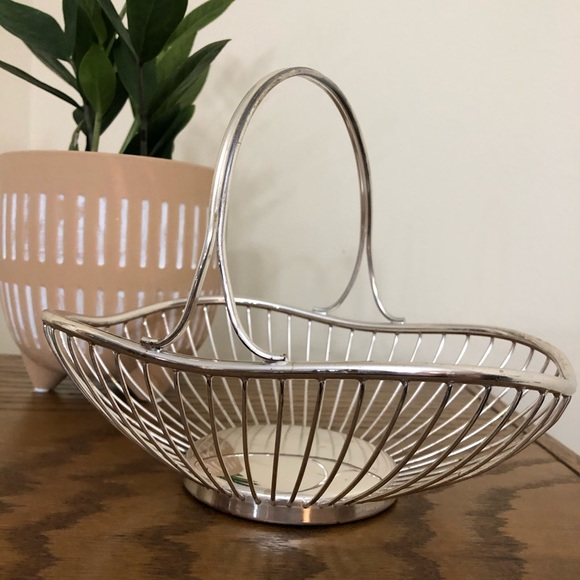 Vintage Mid Century Metal Basket